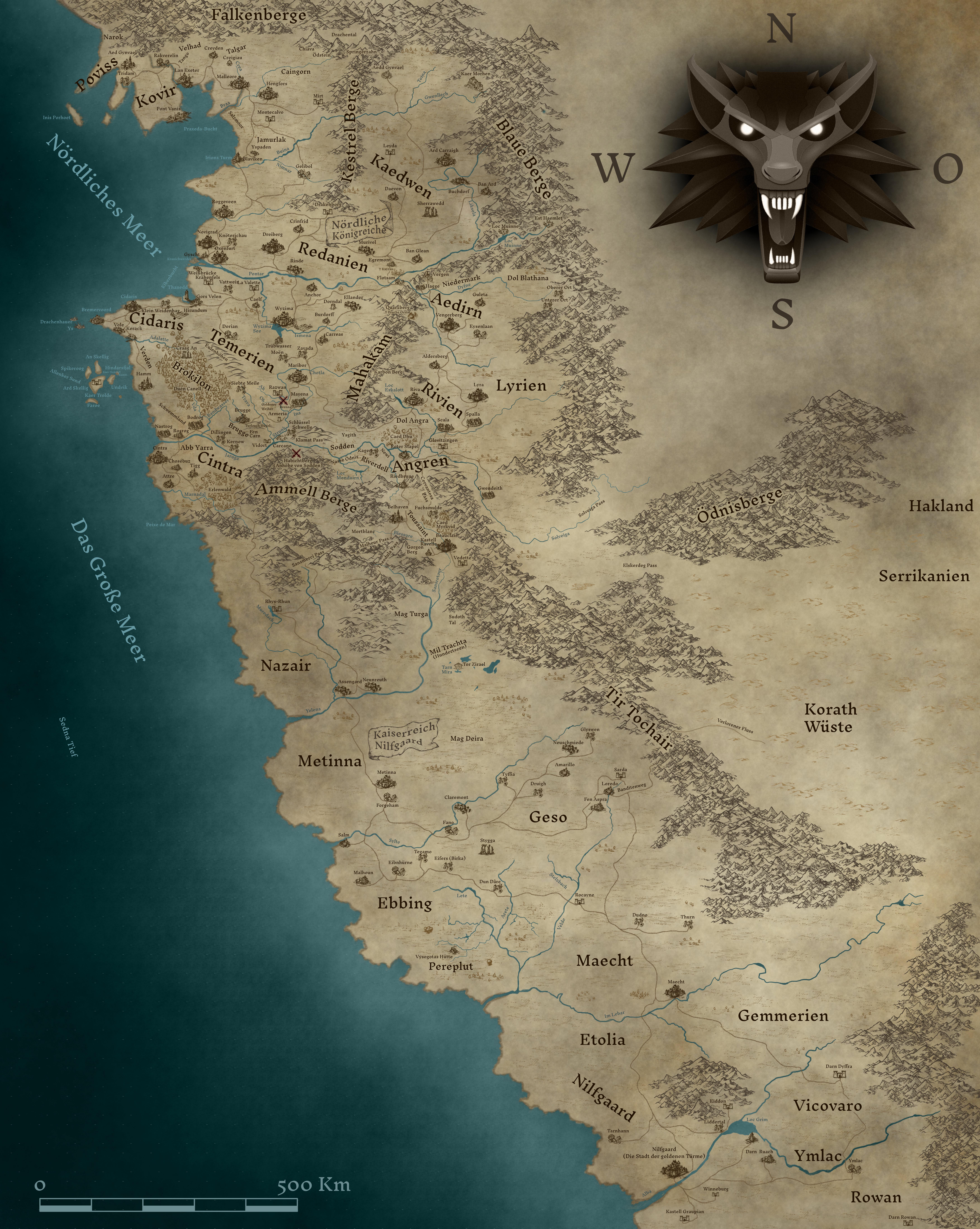 witcher karte The Witcher   Karte