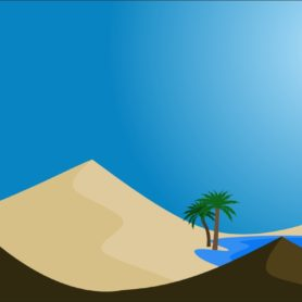Wüstenlandschaft / Oase