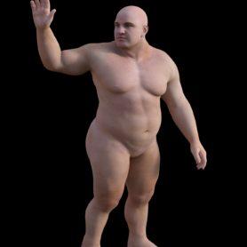 Erwachsener Zwerg Mann normal stehend