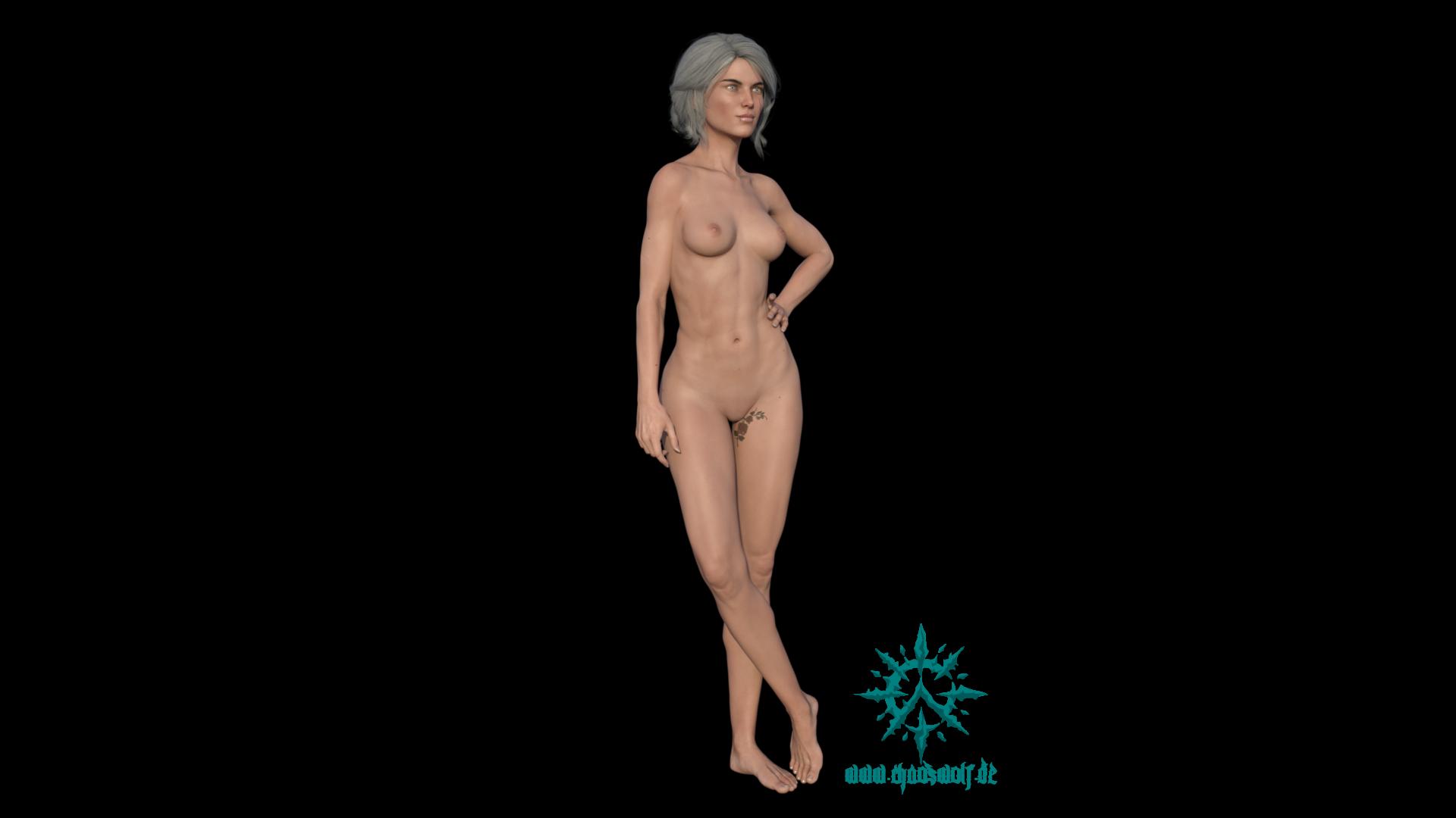Frau schlank stehend