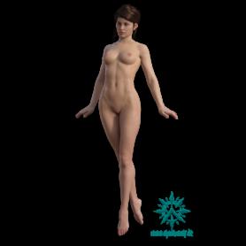 Erwachsene Menschen Frau schlank schwebend