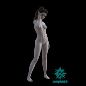 Pose - Jugendliche Elfen Frau schlank stehend