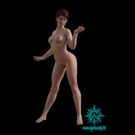 Erwachsene Menschen Frau schlank stehend